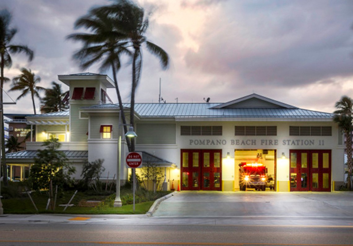Audio and paging system installation at Fire Station in Pompano Beach, FL